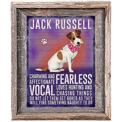 JACK RUSSELL DOG character Quote Art Print 8 x 10 image modern home wall decor