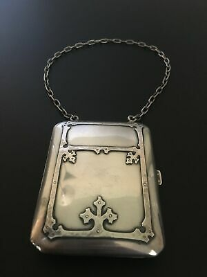 Incredible Vintage Sterling Silver Card Holder