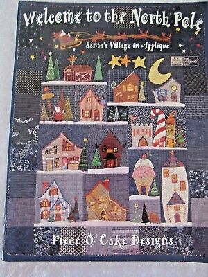APPLIQUE Xmas Book -'Welcome to the NORTH POLE' - Santa's Village Quilt or Wall
