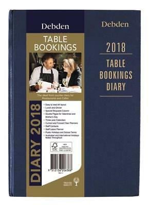 Collins Debden 2018 Table Bookings Diary- 2 Pages per Day- Restaurant Cafe