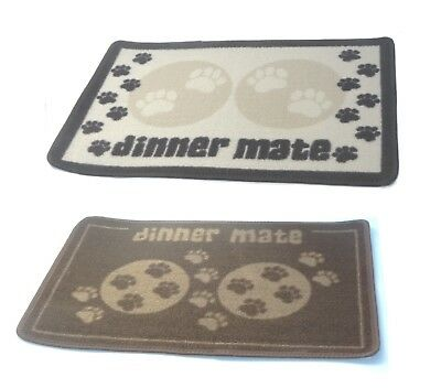 Pet Food feed feeding Mat Rug Non Slip Washable Indoor Dog Cat water Dinner Mate