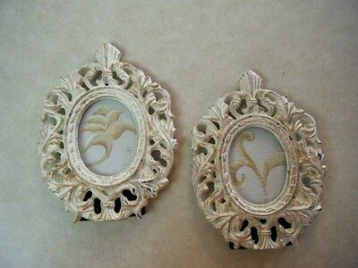 A Pair Of Antique Wrought Iron Picture Frames