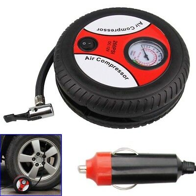 Portable 12V 260PSI Mini Car Electric Air Compressor Tire Inflator Pump Tools