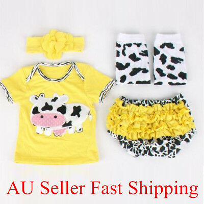 22'' Cotton Handmade Reborn Doll Lifelike Baby Clothes Short Pants Set Yellow