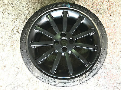 Mg Tf 135 160 *no Marks* Black Spare 11 Spoke Alloy Wheel Goodyear Eagle F1 Tyre