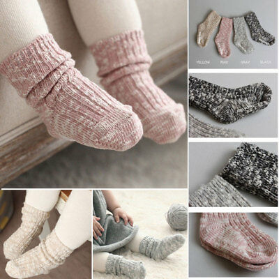 Kids Socks Solid Color Cotton Baby Anti Slip Socks For Boy Girl Toddler ñu