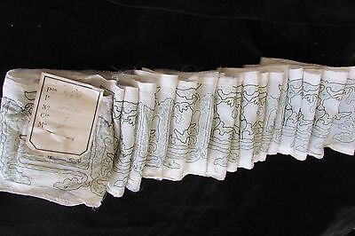 DIVINE ANTIQUE FRENCH WIDE FINE TULLE & STITCHED  SASH/HAT TRIM c1900's 13ft 2""