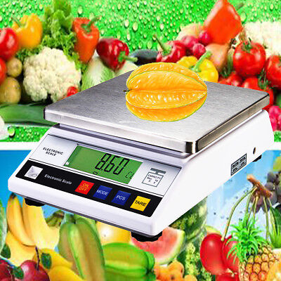AU 7500g 7.5kg x 0.1g Kitchen Digital LCD Electric Food Balance Weight Scale Lab