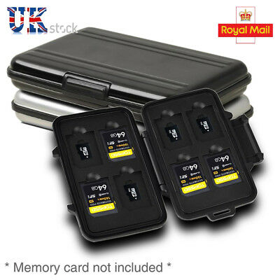 8 Aluminum Micro SD Memory Card Wallet Case Holder Portable Box Anti-shock UK
