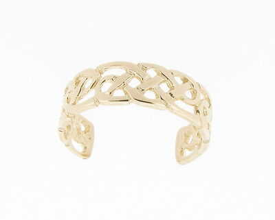 9ct Yellow Gold Celtic Toe Ring - NEW Hand Finished Made in England *RRP 50.99*
