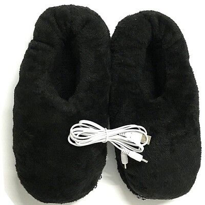 Warmer Winter Slipper With Heat Tablets Electric General Black Shoes House USB