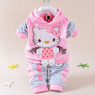 Baby Girls Outfits Sets Toddler Hooede + Pants Clothing Suits Tracksuit
