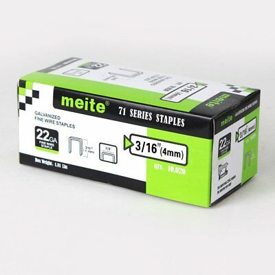 meite 22GA 3/8-Inch Crown 3/16-Inch leg Galvanized staples upholstery staples