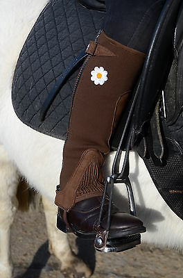 Just Chaps Kids Riding Half Chaps Fun Daisy motif - Child Sizes from Toddler