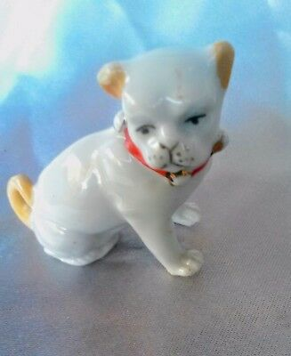 "Vintage miniature porcelain ""Bull dog"" Figurine Great Condition."