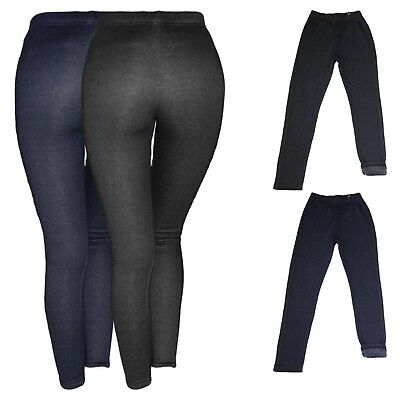Fell Gefüttert Warm Winter Leggings Thermoleggins Hose Leggins Kinder Treggings