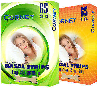 Nasal Strips Stop Snoring Breath Easier Anti Snoring Solution LARGE / SMALL x65