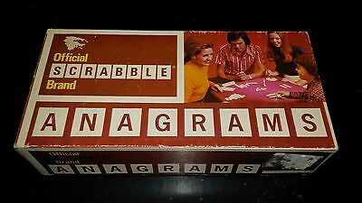 1972 Official Scrabble Brand Anagrams Word Game  Complete & VGC