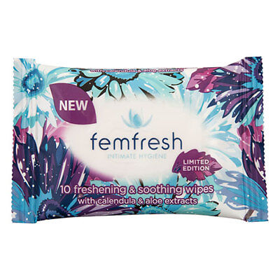 NEW Femfresh Pocket Wipes 10S