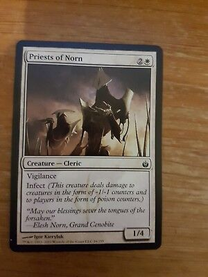 2x PRIESTS OF NORN Creature MAGIC THE GATHERING Trading Card