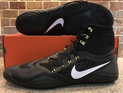 Nike Hypersweep Black/Volt Wrestling Shoes Men's Size 13 NEW With Box  717175 010
