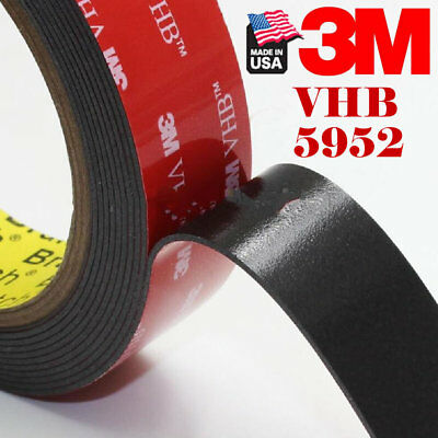 """3M #5952 VHB 1""""In x 108'Ft Double Sided Foam Adhesive Tape Automotive Mounting"""