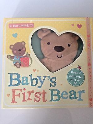 Book and Comforter Gift Set - Baby's First Bear - Luxurious Gift Box for babies