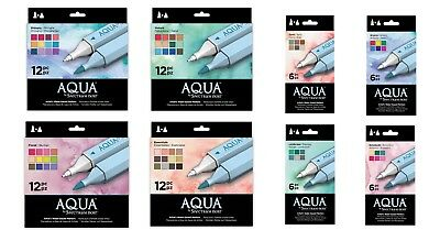 Spectrum Noir Aqua Markers Sets Watercolour Artists - Crafters Companion