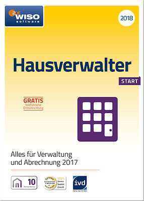 Download-Version WISO Hausverwalter 2018 Start 10 Wohneinheiten