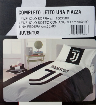 Completo Lenzuola F.C Juve Juventus Ufficiale New Logo 2017 100% Cotone Singolo