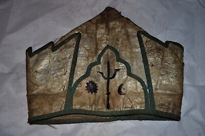 """orig $499-NEPAL SHAMANS HAT EARLY 1900S 10"""""""