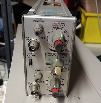 Tektronix 7A18 Dual Trace Amplifier Plug-in