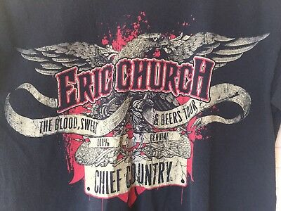 ERIC CHURCH tour Men's shirt The Blood Sweat And Beers Chief Country Size S