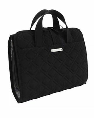 Vera Bradley HANGING ORGANIZER CLASSIC BLACK Quilted Cosmetic Travel Case Bag
