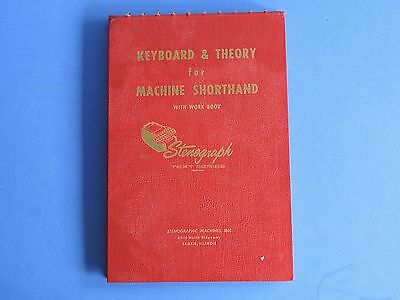Vintage Keyboard & Theory for Machine Shorthand with Workbook 1962