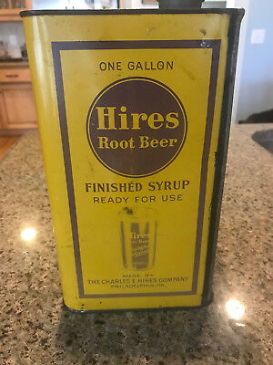 Hires Rootbeer Advertising Syrup Can