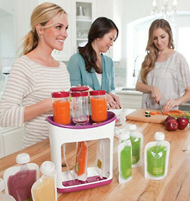 Squeeze Station Infantino Baby Food Fresh Safe Pouches Feeding Press Maker