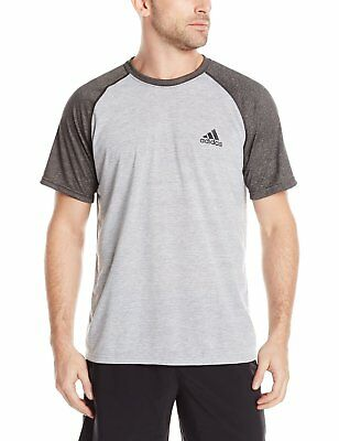 adidas Men's CLIMALITE Ultimate Tee Short-Sleeve Vintage Grey Athletic Shirt
