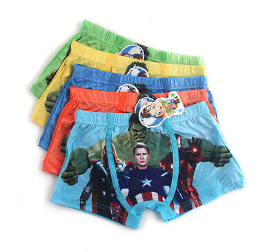 5 Pcs Cartoon Avengers Children's Underwear  Boxer Briefs Boys Close Models gift