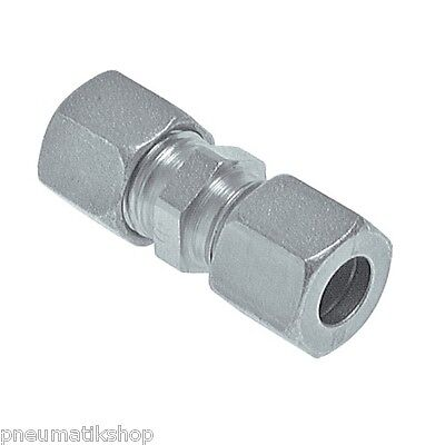 Straight Cutting, Steel Zinc Plated, Screw Connection, Connector