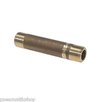 Pipe Nipple,Extension,Connector,Compressed Air Pipe,Brass,Screw Connection,PN16