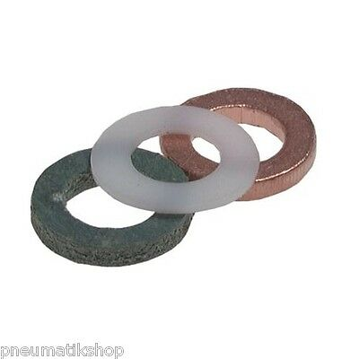 manometer-dichtring, Flat, DIN 16258, ONLY for manometer-zapfen! Flat Gasket