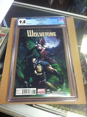 Savage Wolverine #1 Hastings Dell'Otto variant.First printing.CGC 9.8.