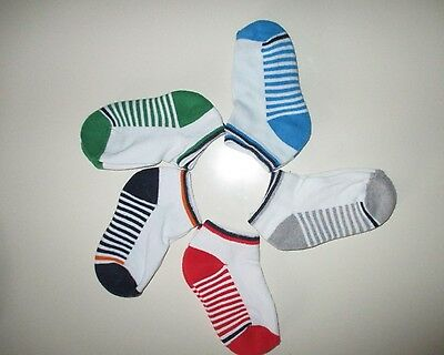 5 Pairs Boys  childrens Trainer Liner Socks Size 6-8 new