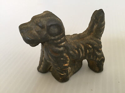 Antique Solid Cast Iron Miniature Scotty Dog, Scottish Terrier
