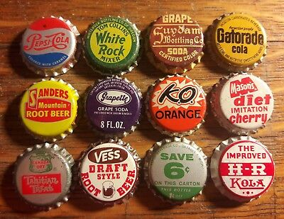 12 Old SODA BOTTLE CAPS cork unused #5