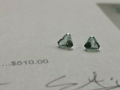 Two Brilliant Cut Natural Cuprain Tourmalines totaling 0.81cts