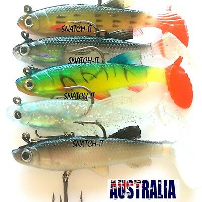 Soft Plastic Lures Vibe Bream Jig Heads Flathead Paddle Tail Mullet Fishing Lure