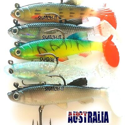Soft Plastic Lures Vibe Bream Lure Bass Flathead Paddle Tail Mullet Fishing Lure