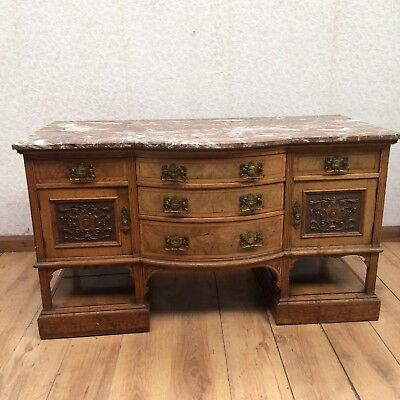 Victorian Marble Top Sideboard Dressing Table Washstand